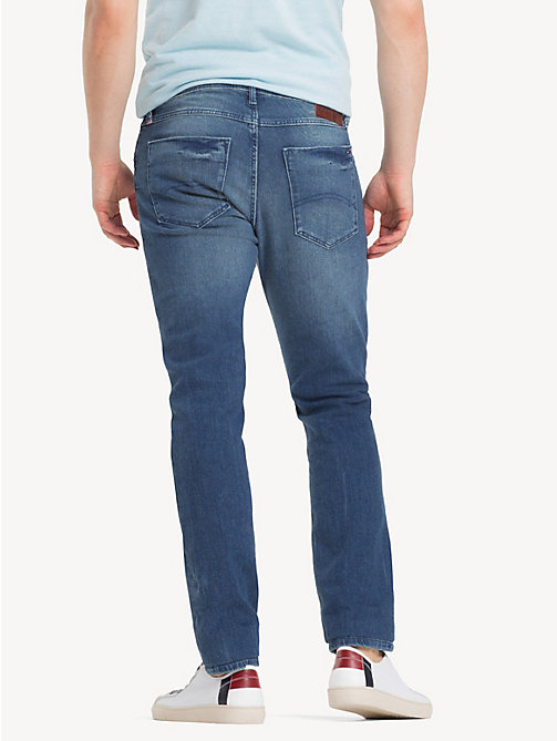 TOMMY JEANS Tapered Slim Fit Denim Jeans - BERRY MID BLUE COMFORT - TOMMY JEANS Clothing - detail image 1