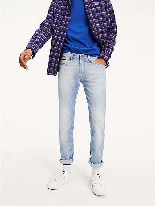 TOMMY JEANS Slim Fit Denim Jeans - BERRY LIGHT BLUE COMFORT - TOMMY JEANS Slim Fit Jeans - main image