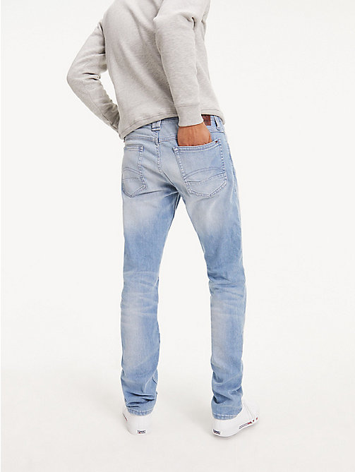 TOMMY JEANS Original Tapered Denim Jeans - BERRY LIGHT BLUE COMFORT - TOMMY JEANS Tapered Jeans - detail image 1