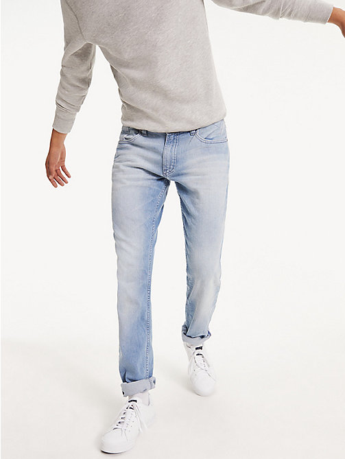 TOMMY JEANS Original Tapered Denim Jeans - BERRY LIGHT BLUE COMFORT - TOMMY JEANS Clothing - main image
