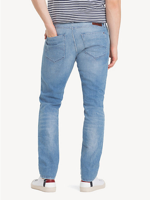 TOMMY JEANS Tapered Slim Fit Denim Jeans - BERRY LIGHT BLUE COMFORT - TOMMY JEANS Jeans - detail image 1