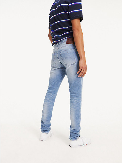 TOMMY JEANS Tapered Slim Fit Denim Jeans - BERRY LIGHT BLUE COMFORT - TOMMY JEANS Tapered Jeans - detail image 1
