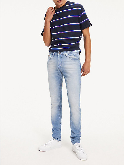 TOMMY JEANS Tapered Slim Fit Denim Jeans - BERRY LIGHT BLUE COMFORT - TOMMY JEANS Tapered Jeans - main image