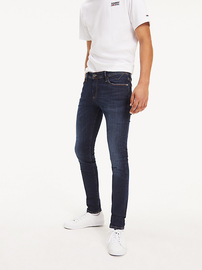 denim stretch skinny fit denim jeans for men tommy jeans