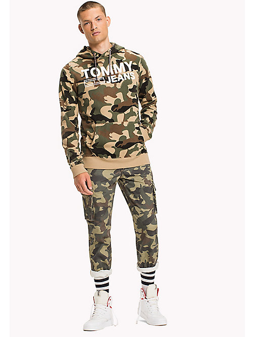 TOMMY JEANS Badstof camouflage hoodie - CAMO PRINT - TOMMY JEANS HEREN - main image