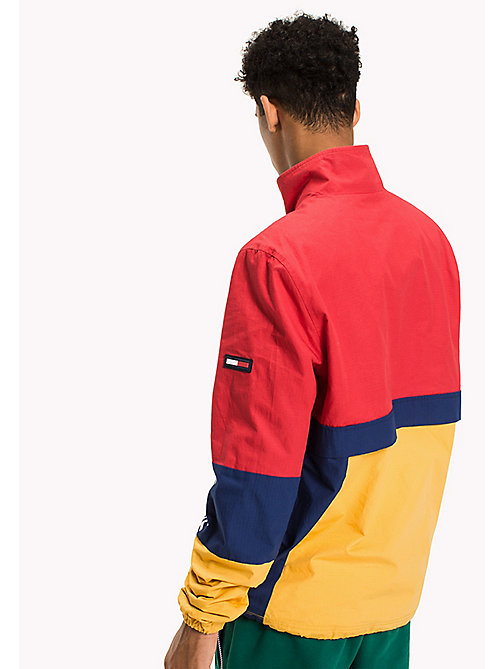 TOMMY JEANS Cotton Retro Pullover Jacket - RACING RED / MULTI - TOMMY JEANS Coats & Jackets - detail image 1