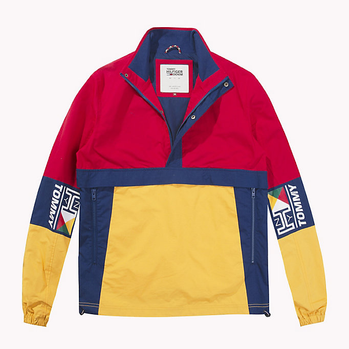 TOMMY JEANS Cotton Retro Pullover Jacket - BLUE DEPTHS / MULTI - TOMMY JEANS Clothing - detail image 4