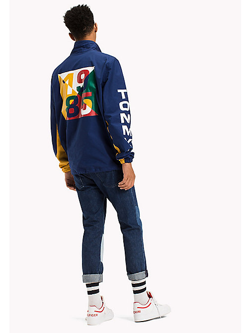 TOMMY JEANS Cotton Retro Pullover Jacket - EVERGREEN / MULTI - TOMMY JEANS Coats & Jackets - detail image 1