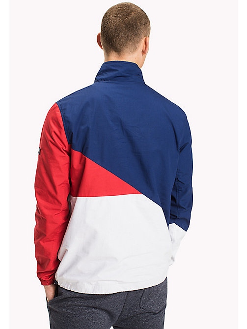 TOMMY JEANS Cotton Retro Pullover Jacket - BLUE DEPTHS / MULTI - TOMMY JEANS Coats & Jackets - detail image 1