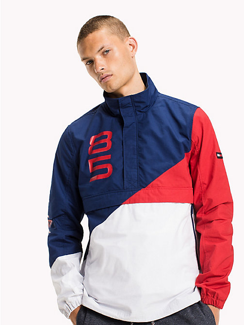 TOMMY JEANS Cotton Retro Pullover Jacket - BLUE DEPTHS / MULTI - TOMMY JEANS Coats & Jackets - main image