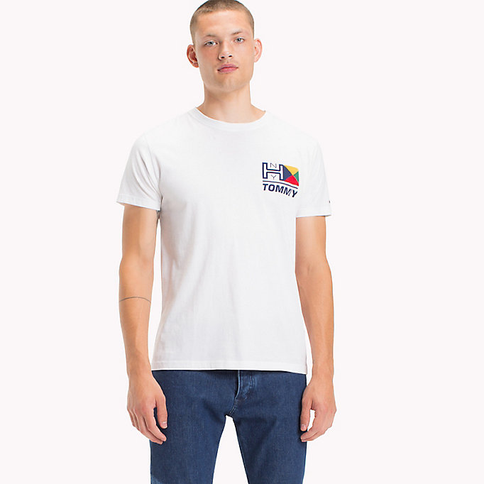 TOMMY JEANS Organic Cotton Logo T-Shirt - BLUE DEPTHS - TOMMY JEANS Men - main image