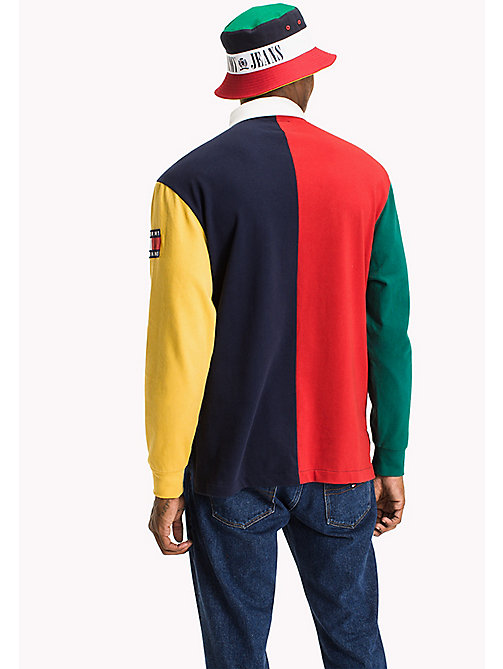 TOMMY JEANS Jersey Colour Block Rugby Shirt - SALSA / MULTI - TOMMY JEANS New arrivals - detail image 1