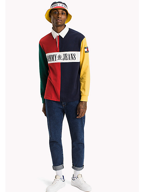 TOMMY JEANS Jersey Colour Block Rugby Shirt - SALSA / MULTI - TOMMY JEANS New arrivals - main image