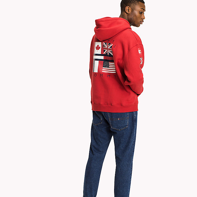 fleece flag hoodie tommy hilfiger official website. Black Bedroom Furniture Sets. Home Design Ideas
