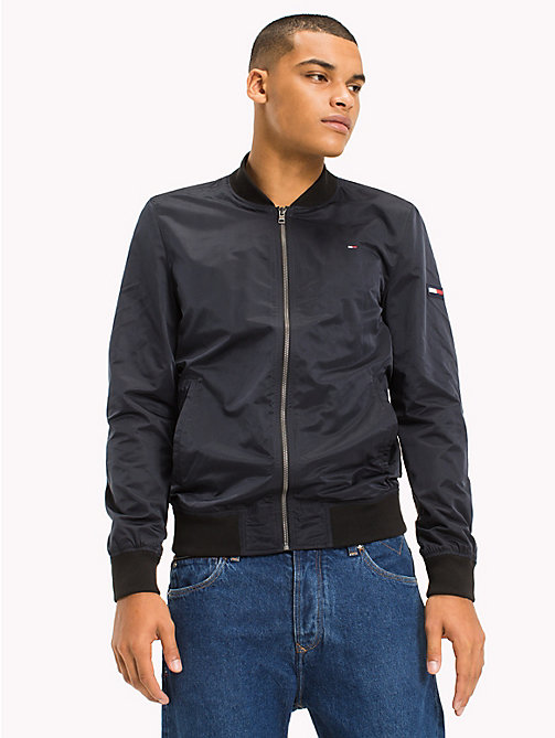 TOMMY JEANS Twill Bomber Jacket - TOMMY BLACK - TOMMY JEANS Men - main image