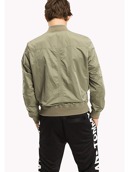 TOMMY JEANS Twill Bomber Jacket - DEEP LICHEN - TOMMY JEANS Clothing - detail image 1