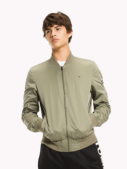 TOMMY JEANS Twill Bomber Jacket - DEEP LICHEN - TOMMY JEANS MEN - main image