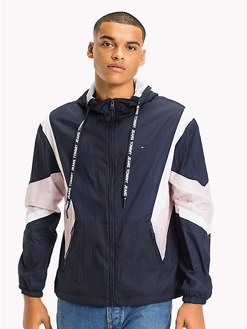 TOMMY JEANS Athletic Nylon Jacket - BLACK IRIS MULTI - TOMMY JEANS MEN - main image