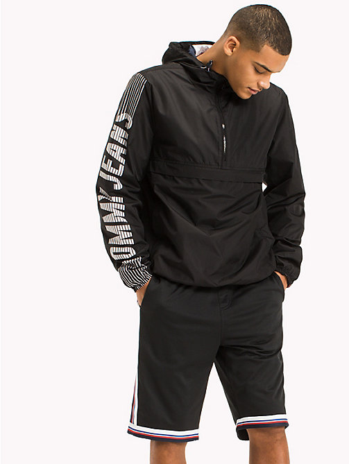 TOMMY JEANS Recycled Polyester Pullover Anorak - TOMMY BLACK - TOMMY JEANS Sustainable Evolution - main image