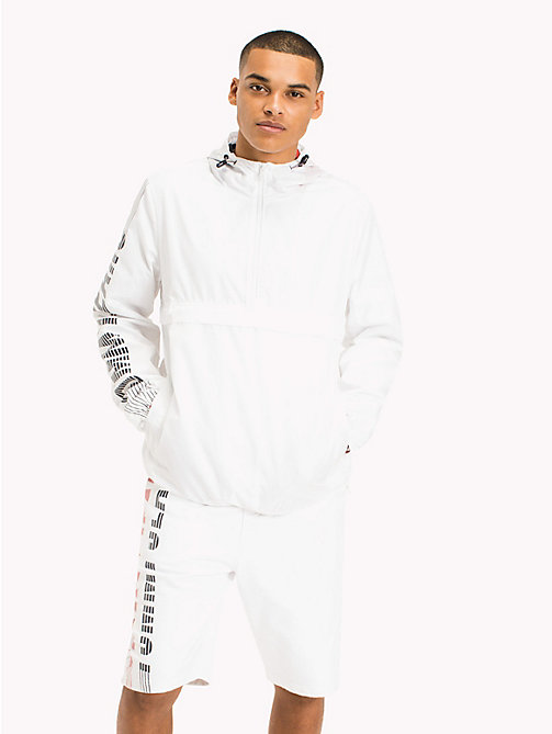 TOMMY JEANS Recycled Polyester Pullover Anorak - CLASSIC WHITE - TOMMY JEANS Sustainable Evolution - main image