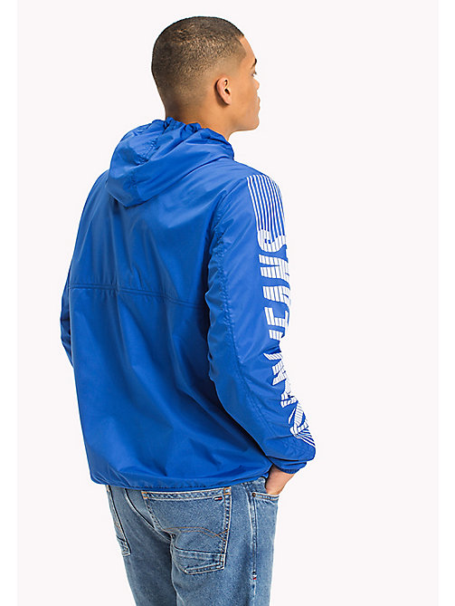TOMMY JEANS Recycled Polyester Pullover Anorak - NAUTICAL BLUE - TOMMY JEANS Sustainable Evolution - detail image 1