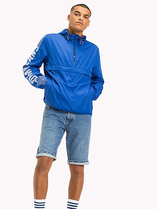 TOMMY JEANS Recycled Polyester Pullover Anorak - NAUTICAL BLUE - TOMMY JEANS Sustainable Evolution - main image