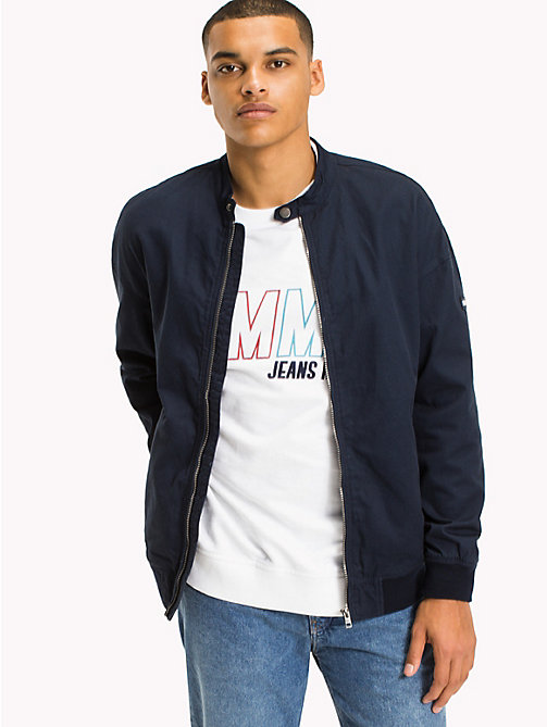 TOMMY JEANS Cotton Twill Bomber - BLACK IRIS - TOMMY JEANS Coats & Jackets - main image