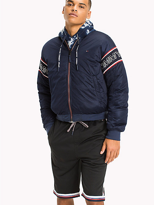TOMMY JEANS Padded Reversible Bomber Jacket - BLACK IRIS - TOMMY JEANS MEN - main image