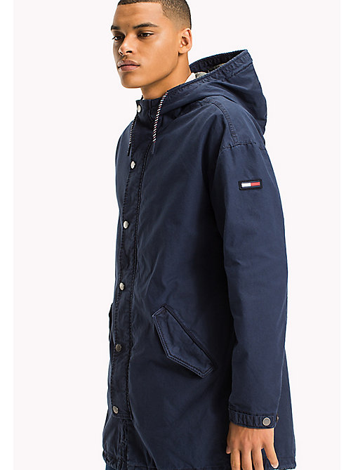 TOMMY JEANS Cotton Canvas Lightweight Parka - BLACK IRIS - TOMMY JEANS Coats & Jackets - main image