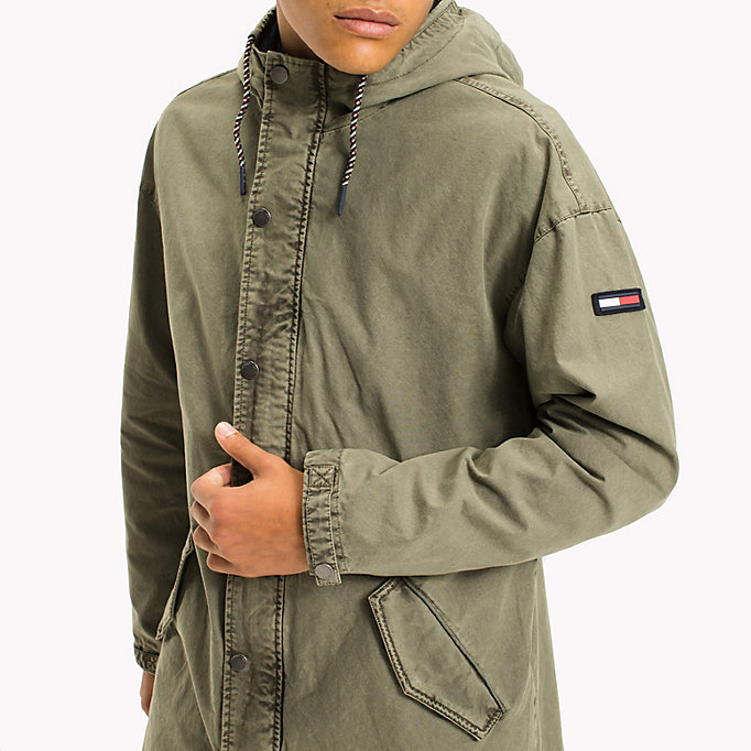 TOMMY JEANS Cotton Canvas Lightweight Parka - BLACK IRIS - TOMMY JEANS Clothing - detail image 3