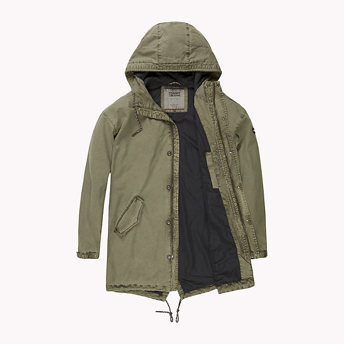 TOMMY JEANS Cotton Canvas Lightweight Parka - BLACK IRIS - TOMMY JEANS Clothing - detail image 4