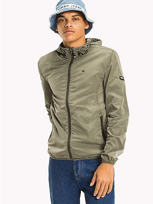 TOMMY JEANS Nylon Jacket - DEEP LICHEN - TOMMY JEANS MEN - main image
