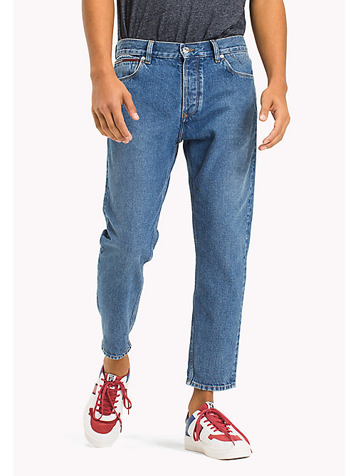 TOMMY JEANS Cropped Relaxed Fit Jeans - TOMMY JEANS MID BLUE RIGID - TOMMY JEANS MEN - main image