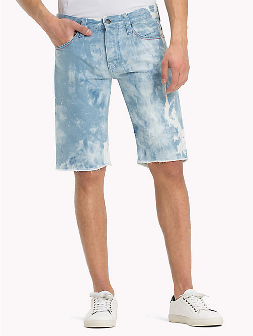 TOMMY JEANS Denim Acid Wash Shorts - MOTOR BLUE CLOUDS RIGID - TOMMY JEANS Trousers & Shorts - main image