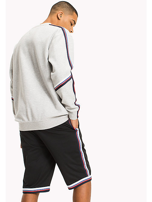 TOMMY JEANS Racing Stripe Sweatshirt - LT GREY HTR - TOMMY JEANS MEN - detail image 1