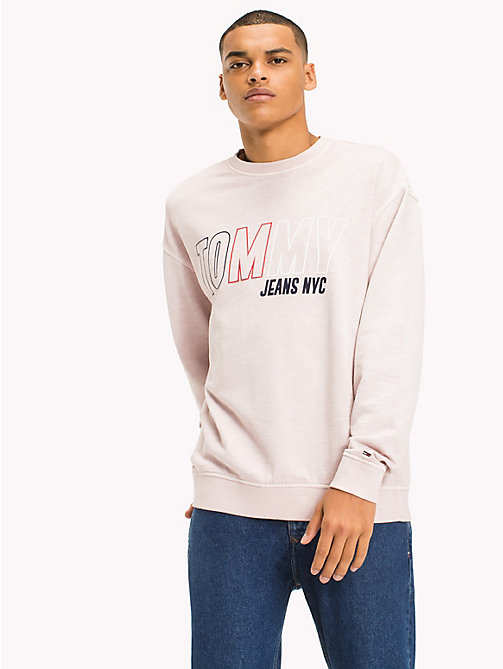 TOMMY JEANS Vintage Graphic Crew Jumper - VIOLET ICE - TOMMY JEANS MEN - main image