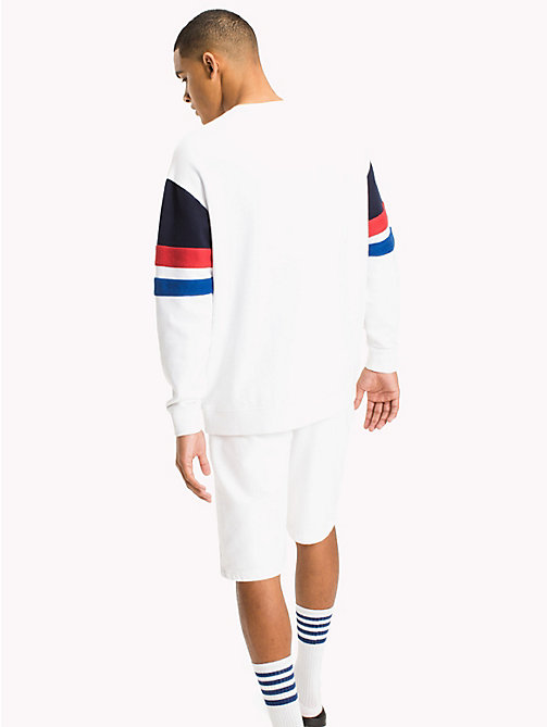 TOMMY JEANS Colour-Blocked Relaxed Fit Sweatshirt - CLASSIC WHITE/MULTI - TOMMY JEANS MEN - detail image 1