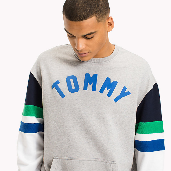 TOMMY JEANS Felpa color-block relaxed fit - CLASSIC WHITE / MULTI - TOMMY JEANS Uomini - dettaglio immagine 2