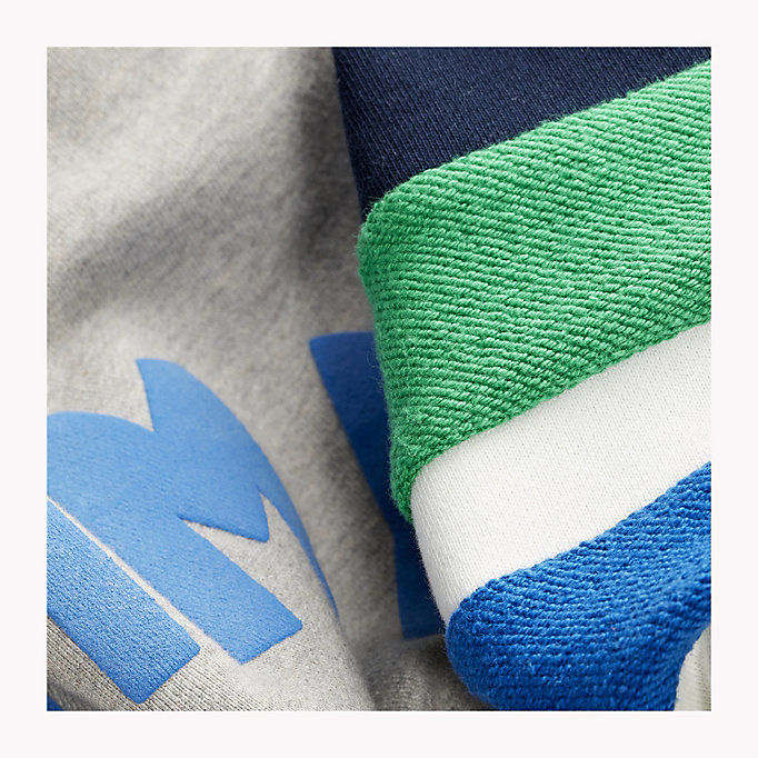 TOMMY JEANS Colour-Blocked Relaxed Fit Sweatshirt - CLASSIC WHITE MULTI - TOMMY JEANS Clothing - detail image 3