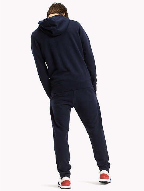 TOMMY JEANS Regular fit hoodie met rits - BLACK IRIS -  TOMMY JEANS HEREN - detail image 1