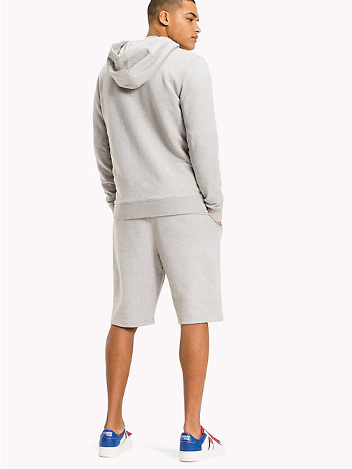TOMMY JEANS Regular fit hoodie met rits - LT GREY HTR -  TOMMY JEANS HEREN - detail image 1