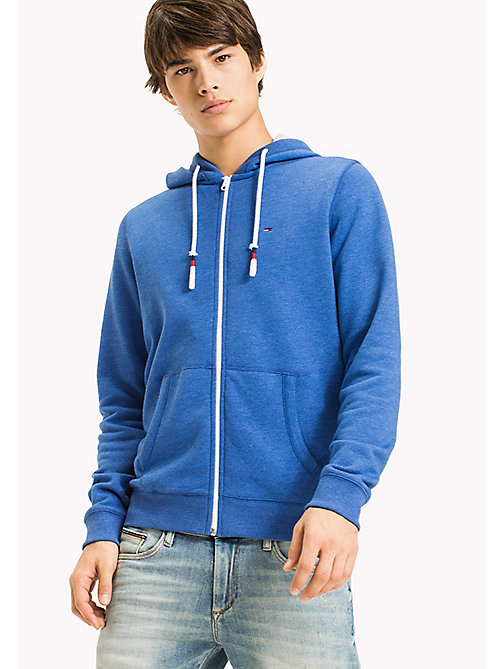 TOMMY JEANS Zip Hoodie - NAUTICAL BLUE - TOMMY JEANS MEN - main image
