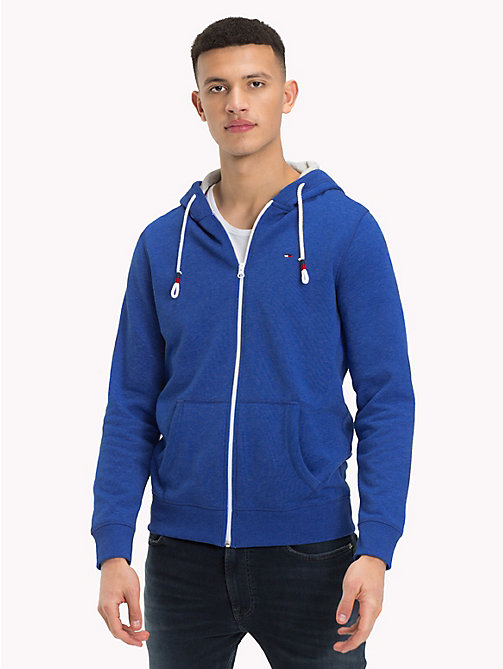 TOMMY JEANS Fleece Zip-Thru Hoody - SURF THE WEB - TOMMY JEANS Sweatshirts & Hoodies - main image