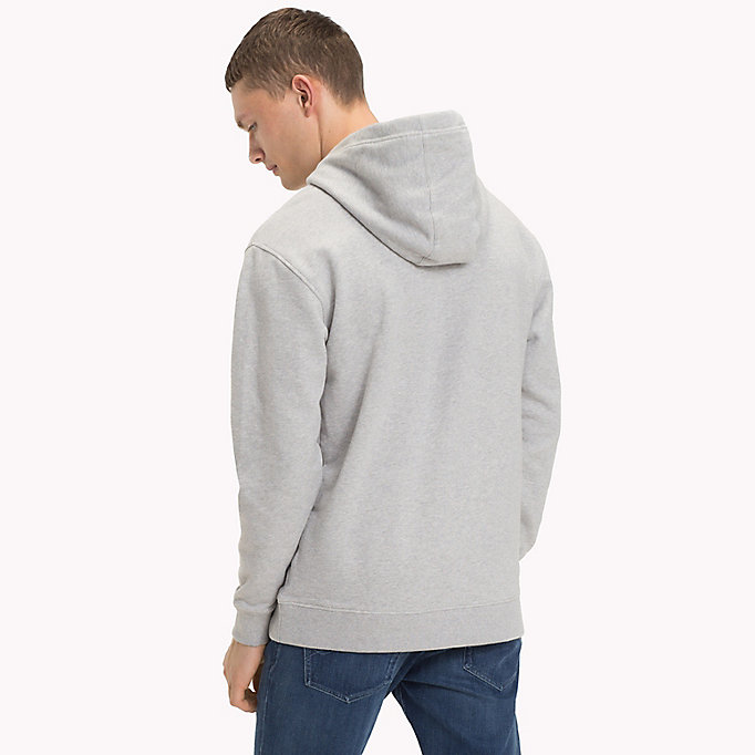 TOMMY JEANS Cotton Terry Hoodie - MAUI BLUE - TOMMY JEANS Men - detail image 1