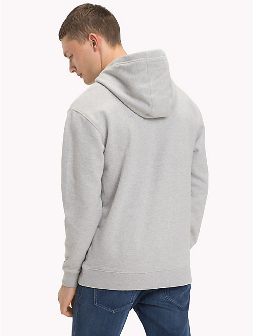 TOMMY JEANS Cotton Terry Hoodie - LT GREY HTR - TOMMY JEANS Clothing - detail image 1