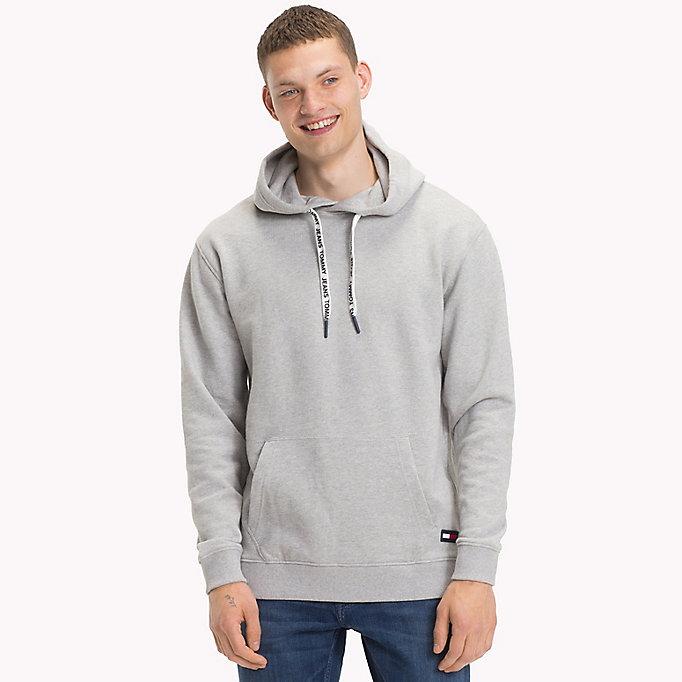 TOMMY JEANS Cotton Terry Hoodie - MAUI BLUE - TOMMY JEANS Men - main image