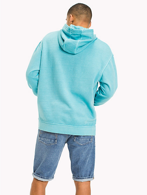 TOMMY JEANS Cotton Terry Hoodie - MAUI BLUE - TOMMY JEANS Sweatshirts & Hoodies - detail image 1