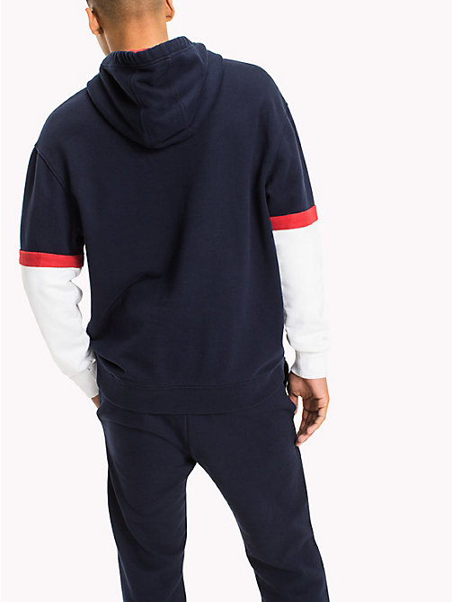 TOMMY JEANS Relaxed Fit Hoodie - BLACK IRIS / MULTI - TOMMY JEANS MEN - detail image 1