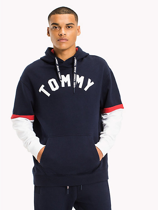 TOMMY JEANS Relaxed Fit Hoodie - BLACK IRIS / MULTI - TOMMY JEANS MEN - main image