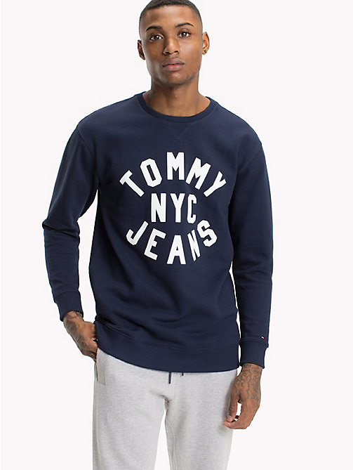 TOMMY JEANS Graphic Relaxed Fit Sweatshirt - BLACK IRIS - TOMMY JEANS MEN - main image